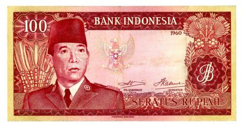 Indonesia ... P-86a ... 100 Rupiah ... 1960 ...* CHOICE VF-XF *