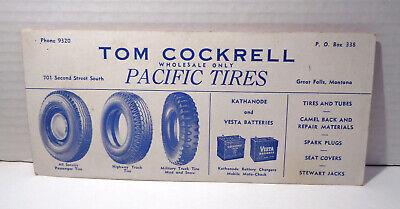 Vintage Dunlop Balloon Tires Tom Cockrell Wholesale Ink Blotter!