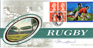 1-OCTOBER-1999-RUGBY-LABEL-BENHAM-BLCS-168-B-FIRST-DAY-COVER-SIGNED-JOHN-SPENCER