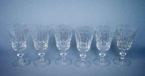 Set of SIX 6 Hawkes Crystal MALLORY Water Wine Goblets Glasses
