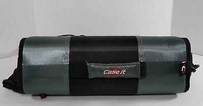 Case-it Zipper 4 Double D-ring Binder W 5-tab Files Blackgray