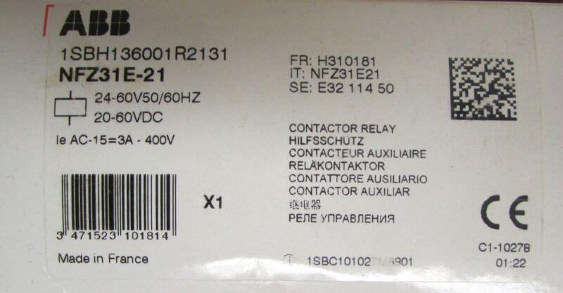 ABB NFZ31E 21 24-60 V DC Contactor