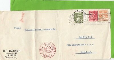 C 540 Odense Denmark October 1934 airmail cover to Germany