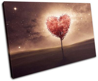 Heart bedroom Romantic night 60x40cm Love CANVAS WALL ART Print
