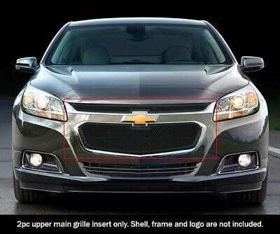 Fits 2014-2015 Chevy Malibu Stainless Steel Black Mesh Main Upper Grille