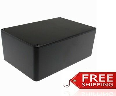Abs Plastic Project Box Enclosure 5.89l X 3.89w X 2.36h Inch In Black