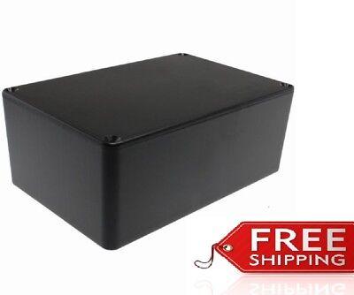 Abs Plastic Project Box Enclosure 5.89l X 3.89w X 2.36h Inch In Black