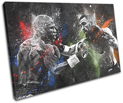 Mayweather McGregor Boxing UFC 60x40cm Sports CANVAS WALL ART Print