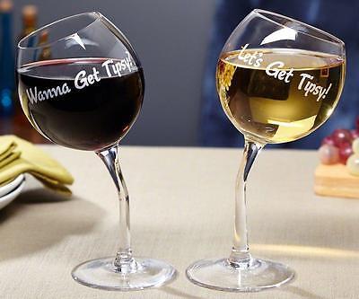 Bekommen Tipsy Wein Liebhaber Gläser 2 Stück Mundgeblasene Glas Neuheit Tricks
