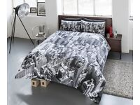 NY New York Duvet Quilt Cover & Pillow Case Skyline Bedding Single Double King