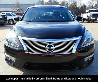 Nissan Altima Polished Billet Grille - Fits 2013-2015 Nissan Altima Upper Aluminum Polished Billet grille insert