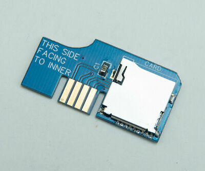 SD2SP2 Gamecube SD microSD adapter Gold plated (ENIG) spring slot, serial port...