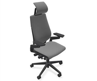 Steelcase Gesture Adj Headrest Task Desk Chair Black Frame G