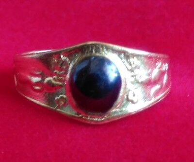 Ring Leklai Mekkapas LP.Oim Buddha Talisman Brass Thai amulet Size 54 mm