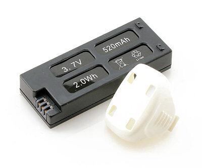 Genuine Hubsan X4+ Camera H107C+ 3.7V 520mAh 2.0Wh Spare Battery - UK Same Day