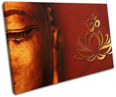 Buddha Om Mandala Peace Buddhism Religion SINGLE Leinwand Kunst Bild drucken
