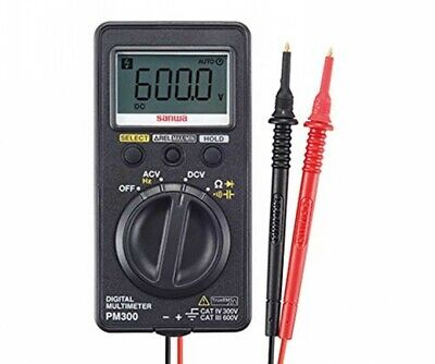 Sanwa Pm300 Pocket Size Digital Multimeters True Rms Cat.iv Japan With Tracking