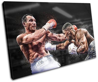 Boxing Anthony Joshua Klitschko 45x30cm Sports CANVAS WALL ART Print