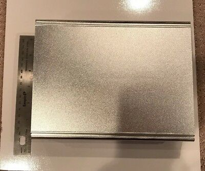 New - Box Enclosure Aluminum Box Silver- Bex Series - Box B4-220si