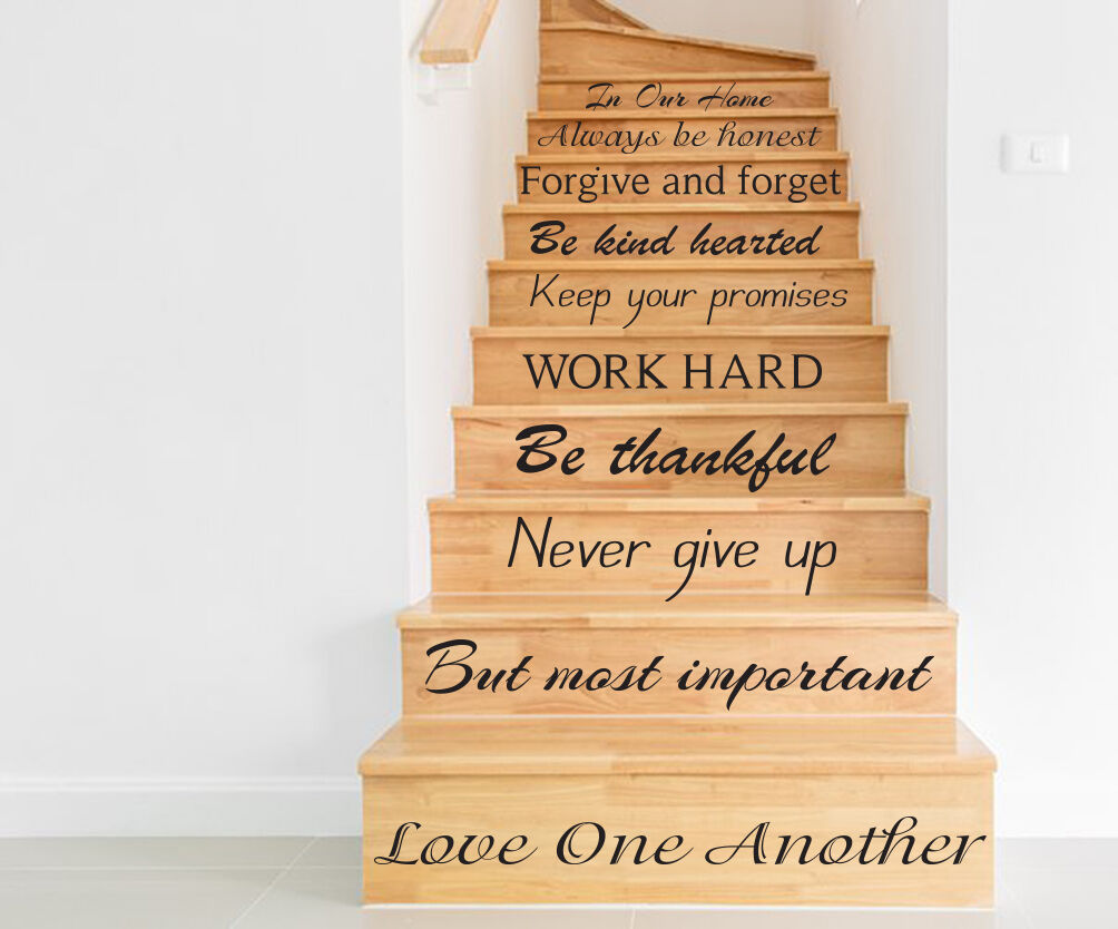 Stair Vinyl Decal Quotes Stairway Decal Family Stickers For