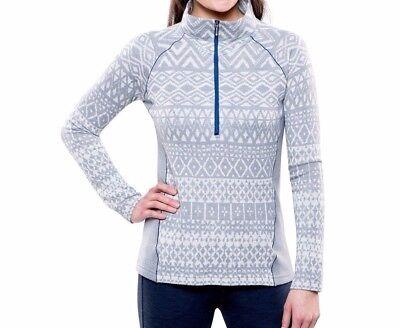 Kuhl Womens Adriana 1/2 Half Zip Sweater Jacket Ash Gray **MSRP $119** Womens Half Jacket