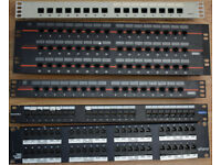 "1U 2U 3U 19"" Rack Mount Assorted RJ-45 CAT-5e Wired Networking Punch-in Patch Panels"