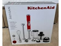 KitchenAid Cordless Hand Blender - Artisan Candy Apple - Brand New In Box