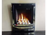 Flavel Windsor Contemporary Slimline 3.3 KW Inset Gas Fire ( Chrome )