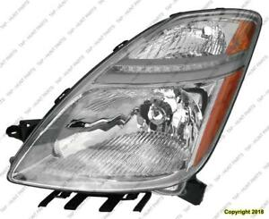 Head Light Driver Side Without HID From November 2005 To 2009 Toyota Prius 2007-2009