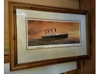 "Framed print of ""Titanics last sunset by Adrian Rigby"""