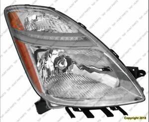 Head Light Passenger Side Without HID From November 2005 To 2009 Toyota Prius 2007-2009