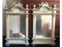 "A pair of beautiful painted gilt church mirrors 3'6"" x 2'2"""