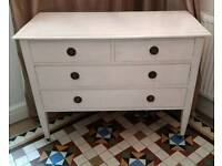 Gorgeous shabby chic vintage chest of drawers dresser dressing table