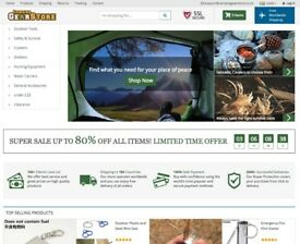 Camping Gear, Extreme Outdoors Equipment Dropshipping Business For Sale