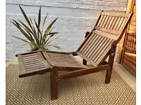 Wooden Sun Lounger Recliner #177