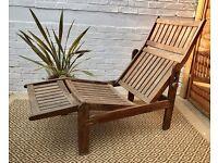 Wooden Sun Lounger Recliner #177