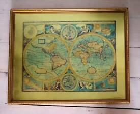 Old map of the world - gold