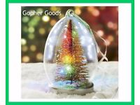 Light-Up Glass Christmas Tree, New