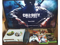 Xbox 360 +6 games + controller. Delivery options available. In Excellent working condition!