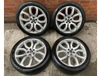 20'' GENUINE RANGE ROVER EVOQUE LAND DISCOVERY SPORT ALLOY WHEELS TYRES ALLOYS HSE 5X108