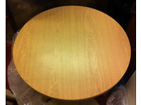 round solid coffee table