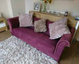 Purple Chesterfield style 3 Seater Sofa, DELIVERY AVAILABLE