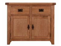 Solid Oak Small Wexford Sideboard. TV Units, Dining Tables and Chairs available to match