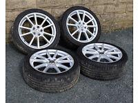 "18"" alloy wheels tyres 5x108 Ford Focus Mondeo Transit Connect Jaguar X type"