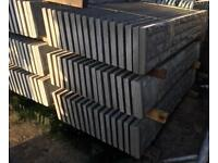 🌲 Rock Face Concrete Fencing Base Panels/ Gravel Boards
