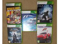 Xbox 360 Games (Borderlands, Batman, Forza, Halo, Formula 1)