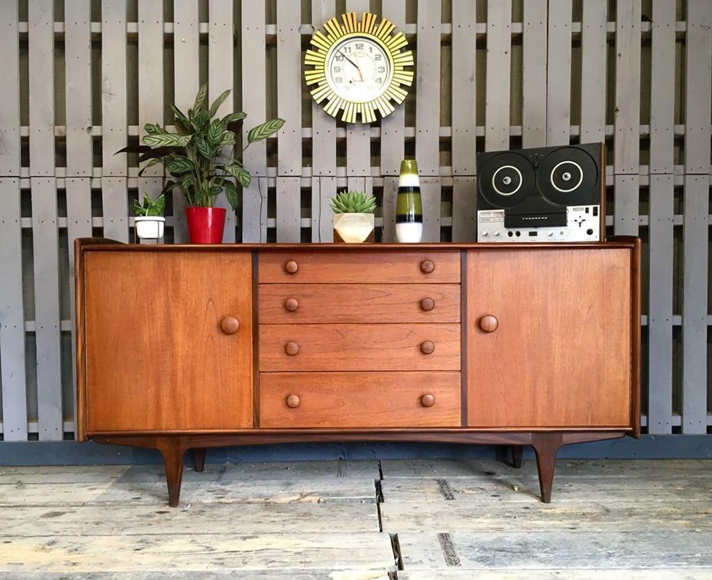 Vintage retro teak younger sideboard mid century modern