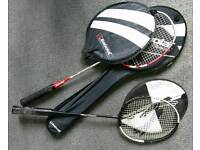Badminton bundle 2 racquets rackets, carry bag & 2 tubes of feather shuttlecocks