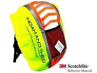 Reflective Hi-Viz Waterproof Hiking / Camping Backpack Rucksack Pannier Bag Rain Cover - BNIB