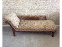 REDUCED - Antique Chaise Longue
